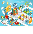 The process of education the concept of learning vector image vector image