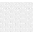 White honeycomb pattern vector image