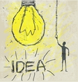 bulb drawing vector image