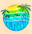 california beach typography graphics t-shirt vector image