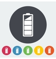 Charging the battery flat single icon vector image