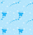 color seamless pattern of cute blue silhouettes vector image
