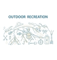 Doodle style design concept of outdoor recreation vector image