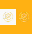 modern minimalistic logo of food and drawn vector image
