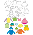 Set of clothing vector image