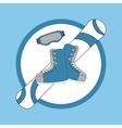 Emblem snowboarding - snowboard and shoes mask vector image