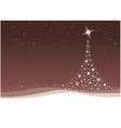 Christmas tree background with stars vector image