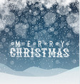 Merry Christmas Abstract Background Blue vector image
