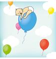 A child sleeps on a balloon vector image vector image