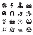 basic electricity icons set vector image