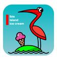 ABC ibis island icecream vector image