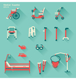 medical hospital equipment for disabled people vector image vector image
