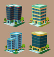 isometric building 1 vector image