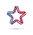 pseudo volume star with american flag symbols vector image