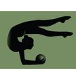 female gymnast vector image