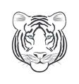 White Tiger head vector image