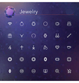 Jewelry Line Icons vector image vector image