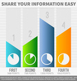 Infographic graphs vector image