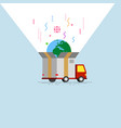 abstract delivery truck with open box container vector image
