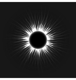 Annular eclipse moon passes the sun vector image