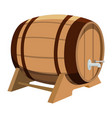 beer barrel on white background vector image