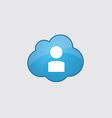 Blue profile icon vector image