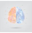 Brain concept creative triangle style v2 vector image
