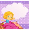 Girl dreaming vector image