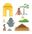India travel icons vector image