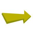 right green arrow cartoon vector image
