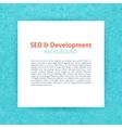 SEO Development Paper Template vector image