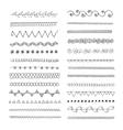 Set of hand drawn line borders vector image