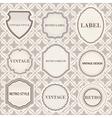 Set of vintage retro labels templates vector image