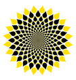 sunflower cute icon in trendy flat style symbol vector image