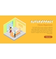 Supermarket Cheese Department Web Banner vector image