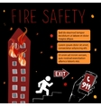 Template for fire safety instructions vector image