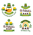 Typographic Saint Patricks Day Design vector image