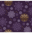 Xmas snowflakes seamless pattern Gold and ink vector image