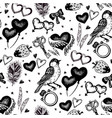 vintage wedding sketch seamless pattern vector image