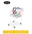 Builder Tools in Cyber Monday Shopping Cart vector image vector image