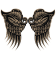 Winged tattoo vector image vector image