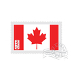 canada flag old postage stamp vector image vector image