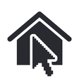 home pointer icon vector image vector image