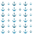 background with blue anchors vector image vector image