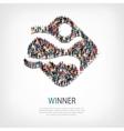 winner people sign 3d vector image