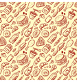 seamless pattern with fast food vector image vector image