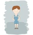 child boy sketch vector image