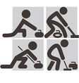 Curling icons vector image