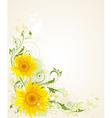 decorative floral grunge vector image