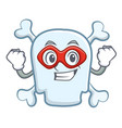 super hero skull character cartoon style vector image